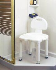 Bath Seat With back Universal Carex B671 Tub Bathroom Safety Chair 400lbs Adjust