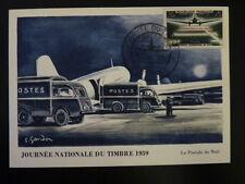 FRANCE PREMIER JOUR FDC YVERT 1196    AVION DC 3       20+5F    BOURGES    1959