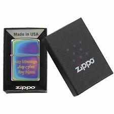 Personalised Engraved Genuine Zippo Multicolour Spectrum Lighter Windproof Gift