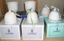 Lot of 6 Lladro Collection Four Bells 00004000  and 2 Cups Vintage