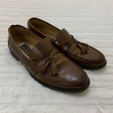 Johnston and Murphy Horner Tassel Loafers Dress Shoes Brown Leather Men's 11