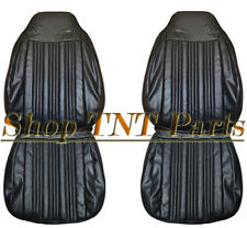 1970 Dodge Coronet Seat Covers Front Bucket Upholstery Black Super Bee 500 R/T
