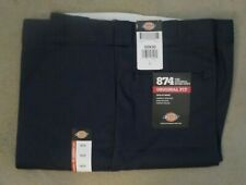 NEW Mens Dickies Work Pants BLACK Loose Fit Double Knee 50X30 Genuine Dickies