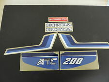 1983 Honda ATC 200 Three Wheeler Gas Tank And Fender Decal Set