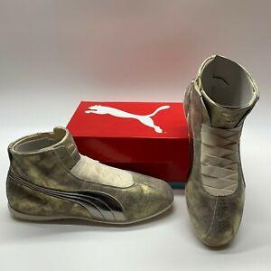 Puma Eskiva Mid Metallic 361023 Gold Side Zip Fashion Sneakers Shoes Womens 6.5