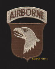 101ST AIRBORNE DIVISION DESERT SUBDUED PATCH SCREAMING EAGLES AFGHANISTAN IRAN