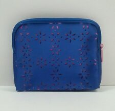 Clinique Blue Pink Cosmetic Makeup Bag Zipper Pouch Bag