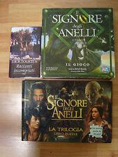 Signore degli anelli 3 oggetti collezione:LIBRO Tolkien, Gioco in scatola,PUZZLE