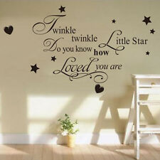 Twinkle Little Star Decal Vinyl Art Mural Wall Sticker Baby Kids Girl Room Decor