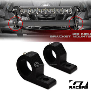 "Texture Blk 1.25"" Tube Bar Roll Cage Mount Bracket Clamps For Led Light Frc G13"