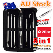 7Pcs Set Blackhead Extractor Tool Remover Pimple Blemish Comedone Kit Acne Clip