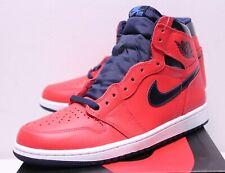 Air Jordan Retro 1 David Letterman Crimson Red Sneakers Men's 7.5-14 555088-606