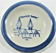 VINTAGE CHURCHILL DOWNS - home of the KENTUCKY DERBY -TWIN SPIRES CERAMIC PLATE