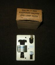 Vintage Eveready Flashlight Battery and Lamp Tester One-No F-1805 and Box