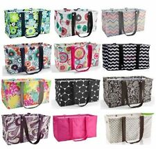 Thirty one Medium Large Utility Tote Bag 31 gift beach storage Check mate & more