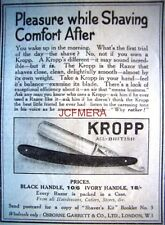 1921 'KROPP' Cut-Throat Razor Shaving AD #2 - Small Original Print ADVERT