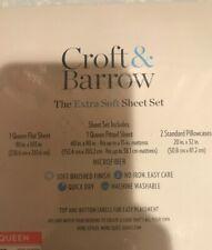 Croft & Barrow Queen Extra Soft Sheet Set