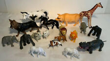 18 Plastic Play Toys - Animal Lot, Zoo, Reptiles, Farm And Dog Horses Are Breyer