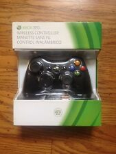 Official Microsoft Xbox 360 Wireless Controller Remote (BLACK) - NEW