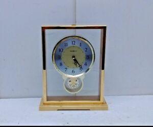 Rythm Clock for Howard Miller CocaCola Desk Shelf Mantel Clock Brass Quartz