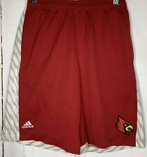 Adidas Cardinals Athletic Shorts Red Logo Boys Size Large Elastic Waist Am