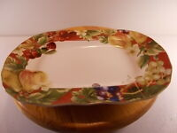 """Noble Excellence Fruit Amore Square Large Serving Platter New 14"""" x 9-3/4"""""""