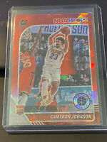 2019-20 NBA Hoops Premium Cameron Johnson Red Cracked Ice Rookie Card SUNS📈📈