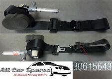 Volvo S40 Mk2 - 4 Door - Passenger Rear Seat Belt/Seatbelt In Black - 30615643