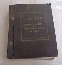 Jaguar Service  Manual for Mark VII & XK 120 Models