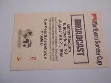 TICKET ACCREDITATION BENFICA v SPORTING CRISTAL BARCELONA NY USA 1988 football