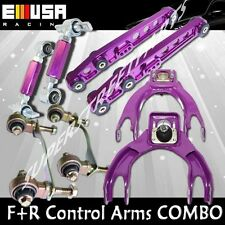 F&R Control Camber Arms COMBO for 94-01 Integra 92-95 Civic 93-97 DelSol PURPLE