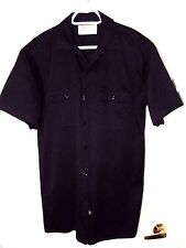 Dickies Authentic Workwear Short Sleeve Shirt/Chest Button Flap Pockets-L, black