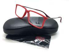 Ray Ban Red Eyeglasses RB 7043 5468 54 mm Matte Demo Lenses