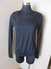 The Balance Collection by Marika Top Mesh Long Sleeve Black Size Small S