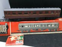 JOUEF HO 457 WAGON Postal royal mail 1ere classe  british railways en boite