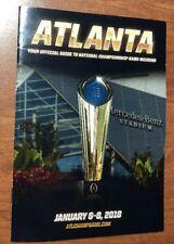 2018 CFP College Football National Championship Guide Alabama Georgia NEW 1/8