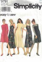 Misses & Petite Dress & Slip Dress Simplicity 9791 Easy to Sew Sizes 4-8