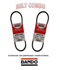 2004-2008 MAXIMA V6 3.5L BANDO OEM  Drive Belt Kit 2Pc ALT+AC+P.S 4PK775 6PK1065