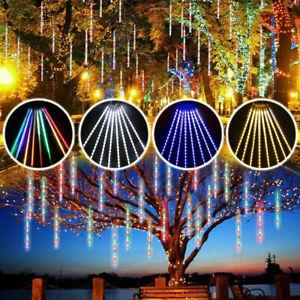LED Meteorschauer Lichterkette Lichterregen Weihnacht Eisregen Eiszapfen Lichter