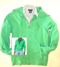 Polo RALPH LAUREN MEN's Hoodie JACKET Size M light Green Zip BIG PONY Cotton NWT