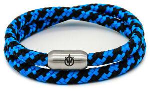 Poseidon Armband LENNOX Double Segeltau Segelseil 6mm Magnetverschlus mit Gravur
