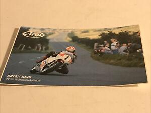 Vintage ARAI Helmets Sticker-Brian Reid TT F2 World Champion-Isle of Man TT