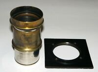 VERY RARE DARLOT PARIS ANASTIG 115 mm PETZVAL TYPE UNIQUE BRASS LENS
