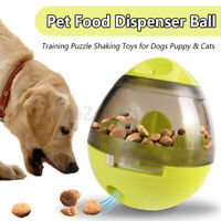 Pets Dog Ball Food Dispenser Dispensing Feeder IQ Puzzle Treat Ball Training Toy