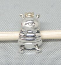 Authentic Pandora Queen Bee Charm/Bead 14K Gold Silver 925 ALE 790227