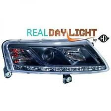 LHD Projecteur LED DRL Phare avant Paire Transparent Noir H7 H1 pour Audi A6