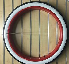 "New 26"" Fat Rim 36 holes for Bicycle Beach cruiser with 26x3.0 tire Red"