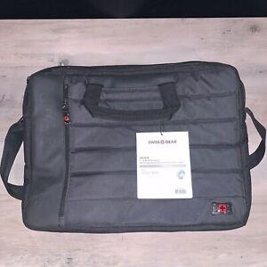 "Swissgear Anthem Laptop Notebook Computer Messenger Bage 17 "" Black Slimcase"