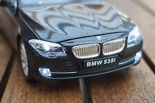 BMW 535i  5-ER F10 1:24 MIT LED-BELEUCHTUNG(XENON) WELLY SCHWARZ ANTRAZIT