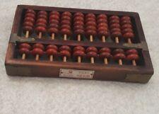 ancien calculatrice chinoise en bois Vintage à 9 rangs (RED LION)